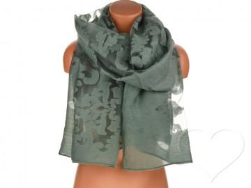 Dámský jednobarevný šátek - khaki