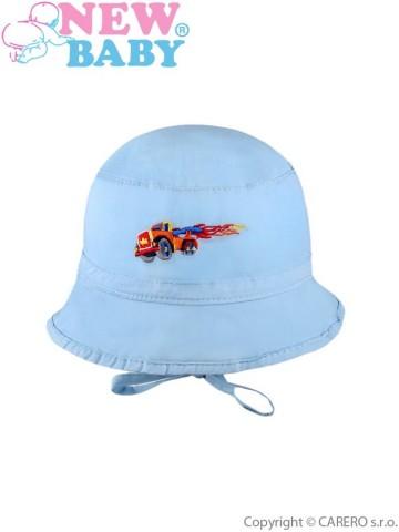 Letní dětský klobouček New Baby Truck modrý