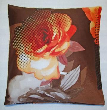 Povlak na polštářek bavlněný satén Royal orange 40/40