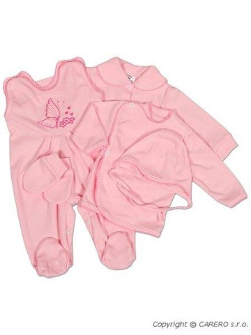 5-dielna súprava New Baby ružová