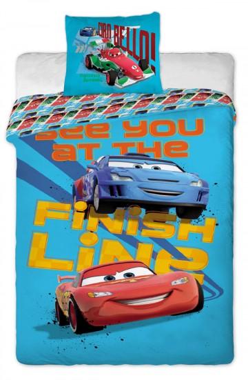 Povlečení JERRY FABRICS Cars 2013 blue 140/200