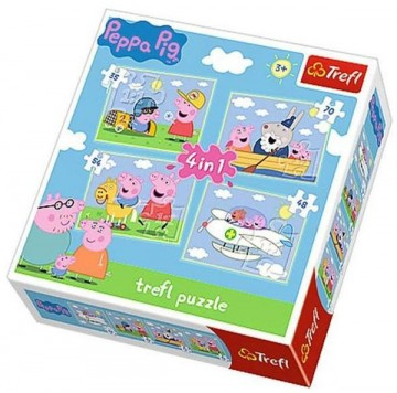 Peppa Pig puzzle 4in1