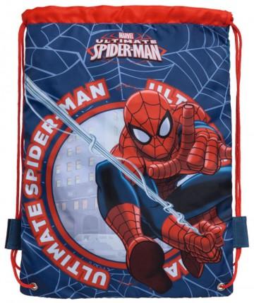 Taška na tělocvik a přezůvky Spiderman blue 40 cm