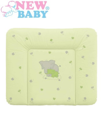 Prebaľovacia podložka mäkká New Baby Sloník zelená 85x70