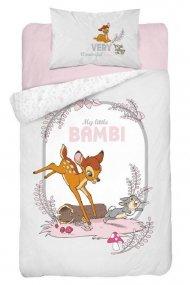 DETEXPOL Povlečení do postýlky Little Bambi grey Bavlna, 100/135, 40/60 cm