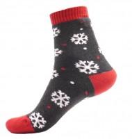 Termo ponožky Vločky, šedé - 1 pár, velikost 39-42