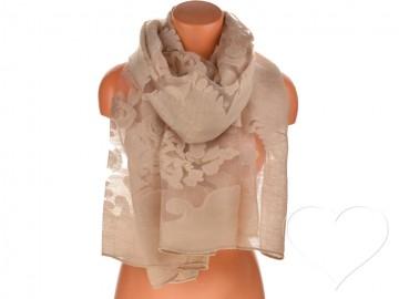 Dámský jednobarevný šátek - béžový