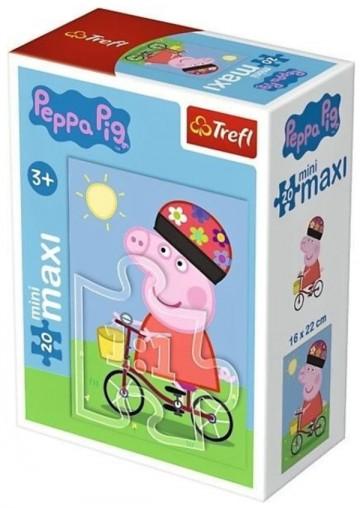 Puzzle Peppa na kole 20 dílků