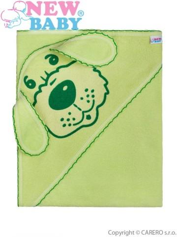 Dětská froté osuška pejsek 100x100 zelená