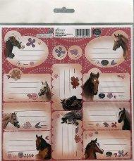 BENIAMIN Samolepící jmenovky Nice and Pretty Koně Papír, 20x20 cm