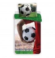 Bavlněné povlečení 140x200+70x90 - Football Hold