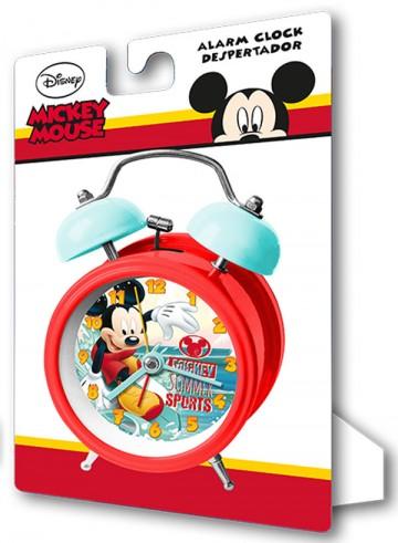 Kovový budík Mickey Summer 9 cm