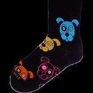 Ponožky - Pes černý - velikost 43-46