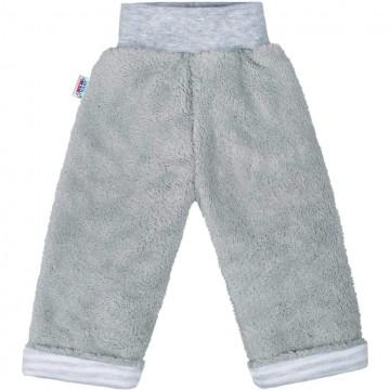 Zimní dětské tepláčky New Baby Ušáček šedé