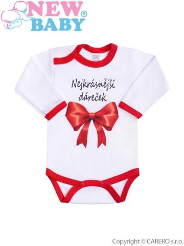 Body s potiskem New Baby Nejkrásnější dáreček