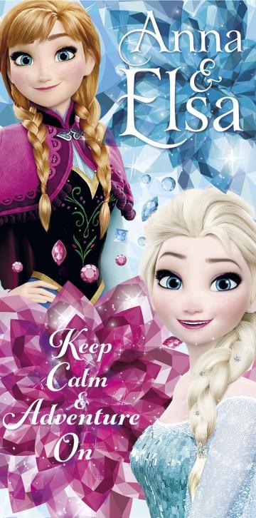 Osuška Ledové Království Anna a Elsa dobrodružství 70/140