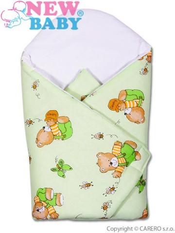 Detská zavinovačka New Baby zelený medvedík