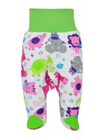 Kojenecké polodupačky Bobas Fashion Zoo zelené pro holky