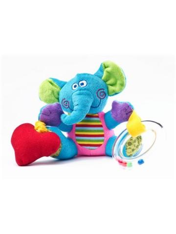 Edukačná plyšová hračka Sensillo sloník s vibrácií a hrkálkou
