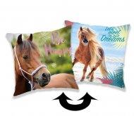 Měnící povlak na polštářek s flitry Horse heart 40/40