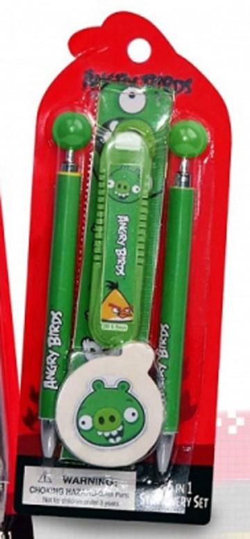 Sada psacích potřeb Angry Birds zelená