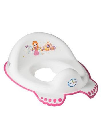 Detské protišmykové sedátko na WC Malá Princezná biele