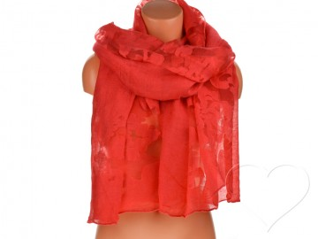 Dámský jednobarevný šátek - červený