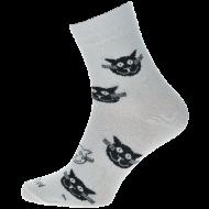 Ponožky - Kočky bílé - velikost 43-46