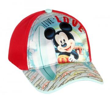 Kšiltovka Mickey červená vel. 52