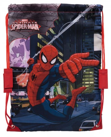 Taška na tělocvik a přezůvky Spiderman 40 cm