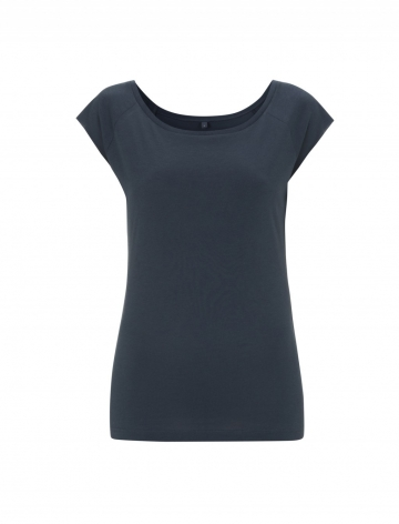 Dámské bambusové tričko, raglanový rukáv - Denim, 1 ks - velikost M