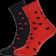 Ponožky - Srdce - velikost 39-42