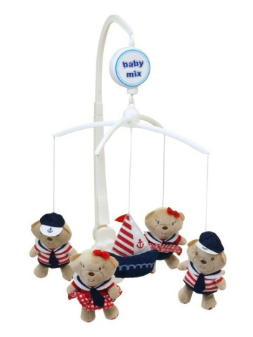 Kolotoč nad postýlku Baby Mix Medvídci Námořníci