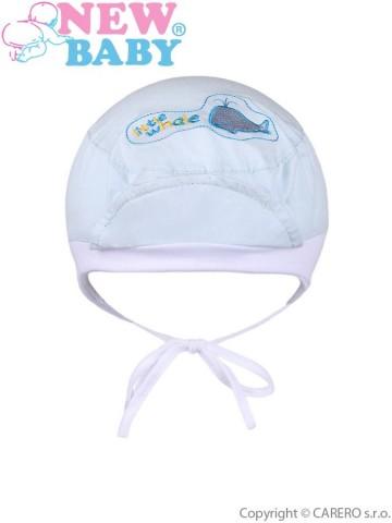 Letná detská čiapočka New Baby Little Whale svetlo modrá