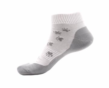 Ponožky - Tlapka šedá nízké - velikost 39-42