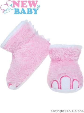 Kojenecké capáčky New Baby Dino růžové