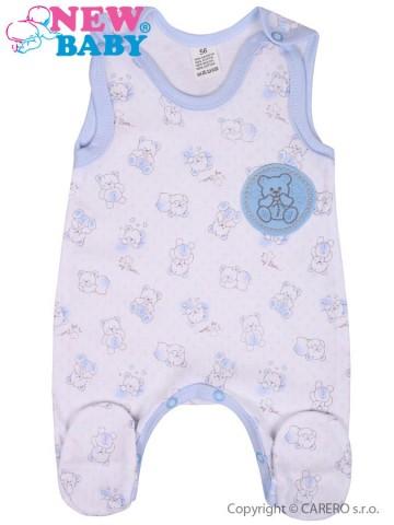 Kojenecké dupačky New Baby Roztomilý Medvídek modré