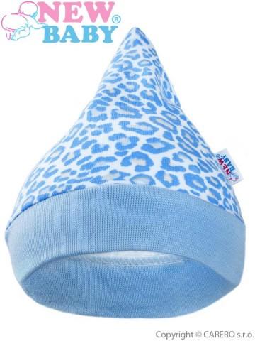 Kojenecká čepička New Baby Leopardík modrá
