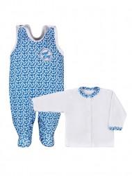 2 - részes csecsemő együttes Koala Cool Dog kék