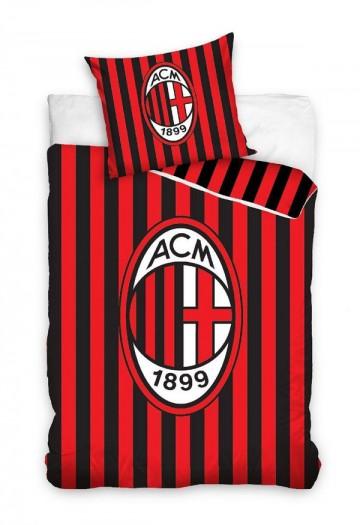 Povlečení AC Milán pruhy 140/200