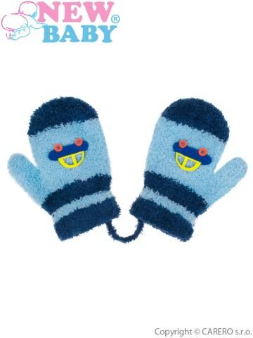Dětské rukavičky New Baby s autem modré