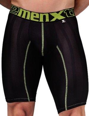 Pánské boxerky Xtremen Sports Boxer Perforated Black-Lemon, Velikost oblečení L