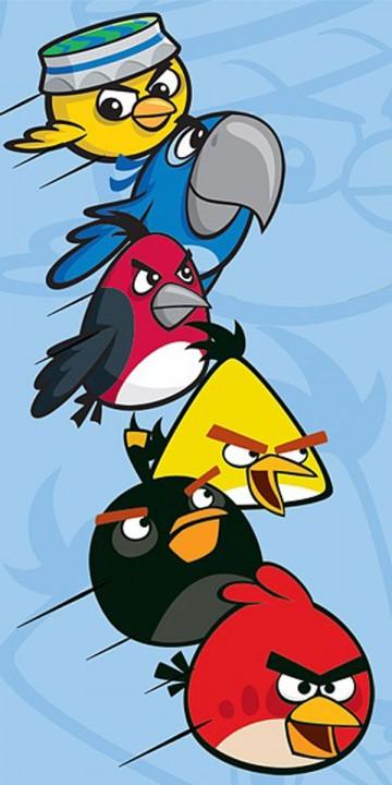 Osuška Angry Birds Rio modrá 70/140
