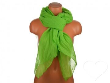 Letní šátek jednobarevný - zelený
