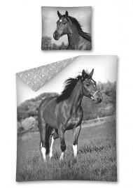 Povlečení Kůň černobílý 140/200, 70/80