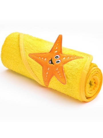 Detská osuška Sensillo 3D Zvieratká 75x75 cm yellow