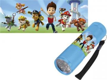 Dětská hliníková LED baterka Paw Patrol azurová
