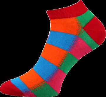 Ponožky - Barevné nízké - velikost 43-46