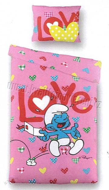 Povlečení Šmoula  LOVE 140x200