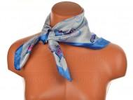 Malý šátek s motivem motýla, 55x55cm - modrý